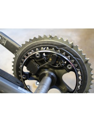 The Pioneer Pedaling Monitor System measures power on each crank