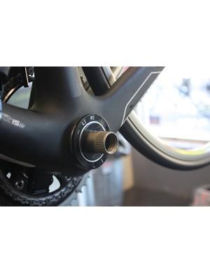 The magnetic rings mount on the bottom bracket