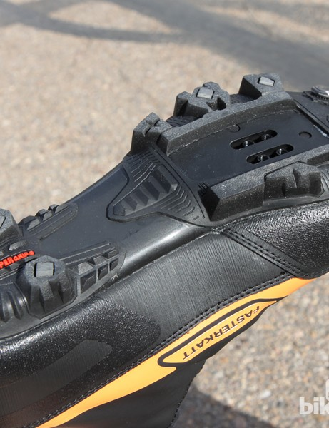 The generously treaded sole on the 45NRTH Fasterkatt shoes is that same as the one on the Lake MX145 shoes