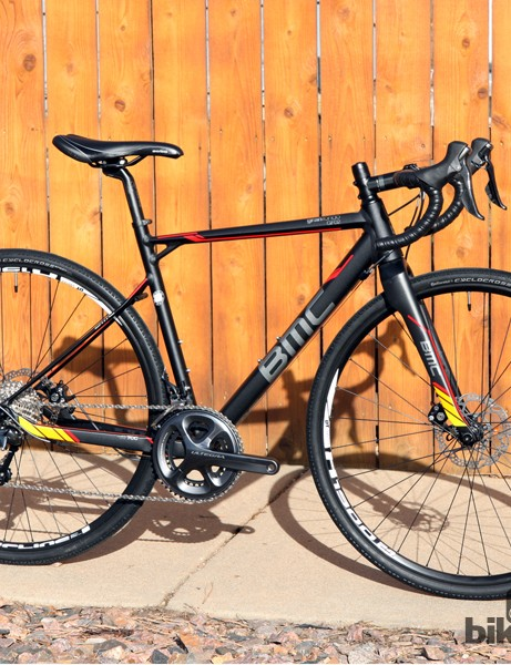 The BMC GF02 Ultegra looks impressively versatile, with clearance for 35mm tyres, disc brakes and only moderately relaxed handling