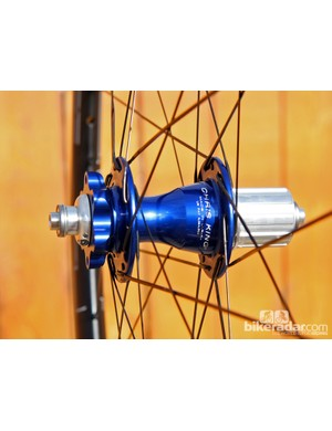 Naturally, Chris King is building all of its complete wheelsets around its own hubs, which can be ordered in a wide range of anodised colors