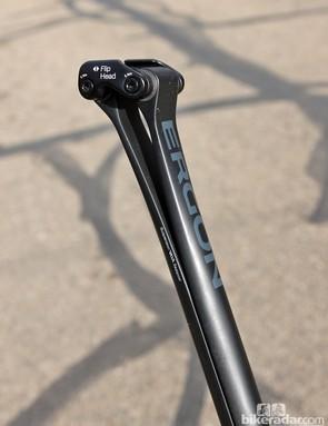 The Ergon CF3 Pro Carbon seatpost features a unique dual leaf spring design to provide some suspension