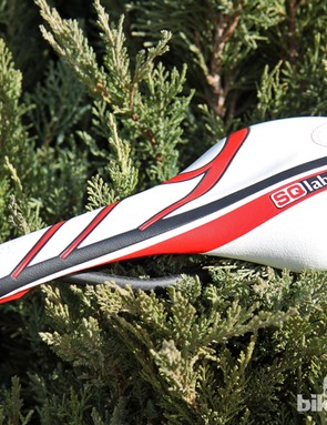 The SQ-Lab 611 Team ltd. Race saddle features raised pads under the sit bones and comes in four width options