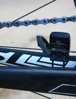 For accuracy, SRM recommends speed by captured with a wheel magnet