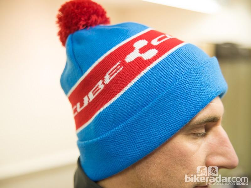Cube bobble beanie hat