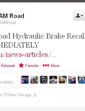SRAM issued a massive hydraulic road bike disc brake recall