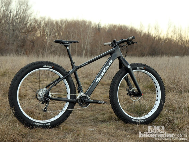Salsa Beargrease Carbon - one of many fat bikes we saw this year!