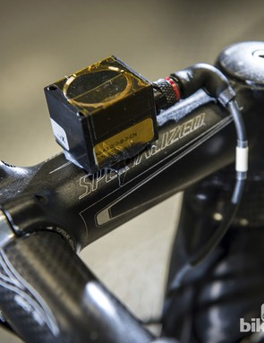This stem mounted sensor detects and records movement through the bars