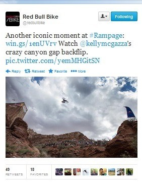 Kelly McGarry's astounding 72ft back flip, caught perfectly for Twitter
