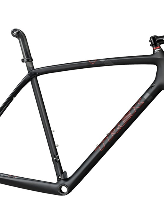 Trek has thrown a wealth of features at its new Boone cyclocross frame that should make it among the smoothest-riding chassis available. Shown here is the disc-specific version but rim brake-compatible variants will be offered as well