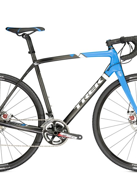 The Trek Boone 5 Disc (US$3,050) features a Shimano 105 and FSA Energy drivetrain, Avid BB5 mechanical disc brakes, and Bontrager tubeless ready wheels