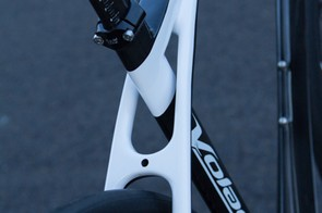 The LongBow Flex seatstays are a design feature of the frame, The appealing design doesn't make a drastic change to ride quality