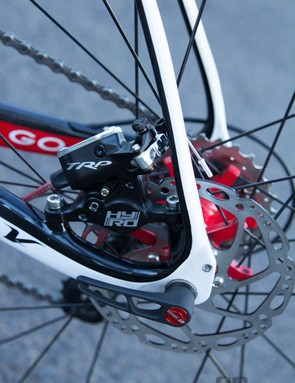 It's still very much about the disc brakes - the TRP HY/RDs are a great choice without moving to a full hydraulic setup