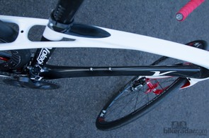 The slim aero tube profiles don't affect the ride quality or front-end frame stiffness