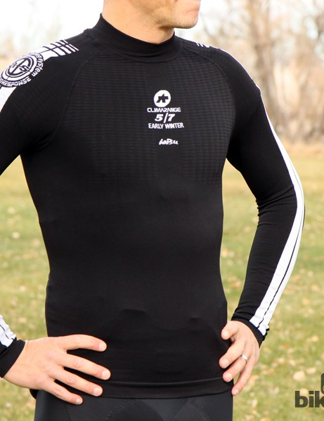 Assos cold-weather gear: The EarlyWinter baselayer features a seamless torso