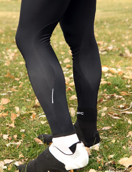 Assos cold-weather gear: The LL.Uno_s5 tights opt for simplicity with an elasticized, no-zipper leg cuff