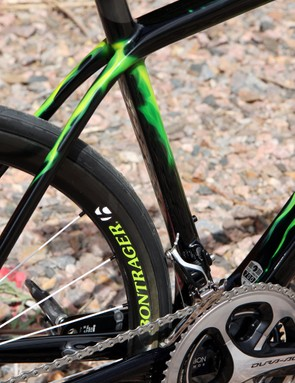 The Kamm tail shaping extends to the seat tube