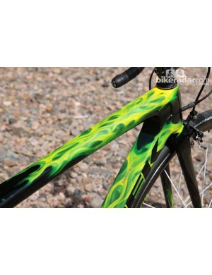 Trek's Project One program includes a wide range of paint schemes and colors. We opted for 'Real Fire' in fluorescent green - not exactly the most subtle hue but it certainly drew more than its fair share of comments