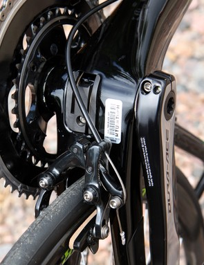 The bottom bracket is a busy area on the Trek Madone 7-Series