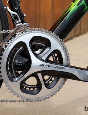 Shimano's latest Dura-Ace 9000 crankset accepts 53/39T, 52/36T or 50/34T chainring combinations - all on the same spider