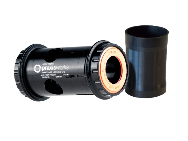Praxis now offers its outstanding conversion bottom bracket with angular contact ABEC5 hybrid ceramic bearings