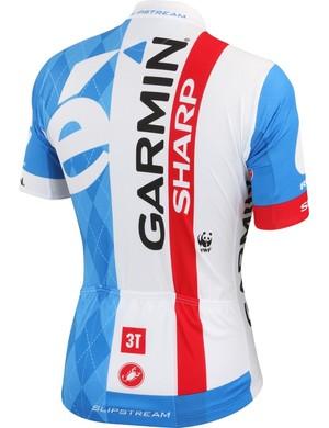 Garmin-Sharp's new jersey from the back - spot the WWF logo