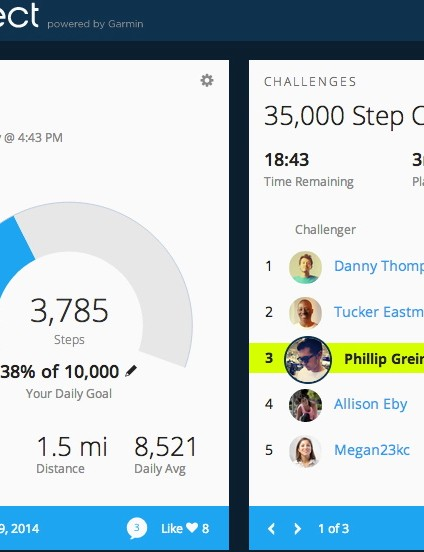 Garmin Connect's new website features a fresh look and a variety of new features
