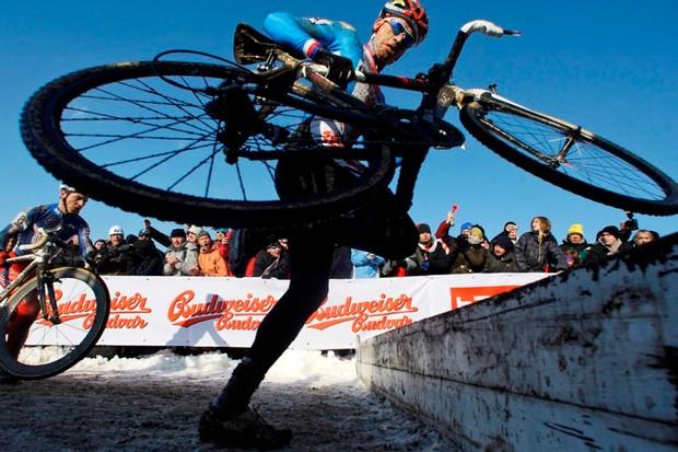 Czech Republic's Zdenek Stybar on his way to winning the Cyclocross World Championships in Tabor, Czech Republic in 2010
