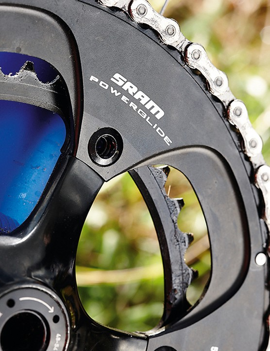 Raleigh Militis Comp: The S-Series chainset is very similar to the Rival chainset