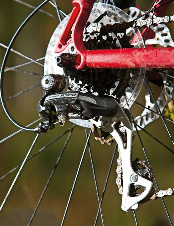The eight-speed cassette is a weak point in the spec, with big gaps between gears