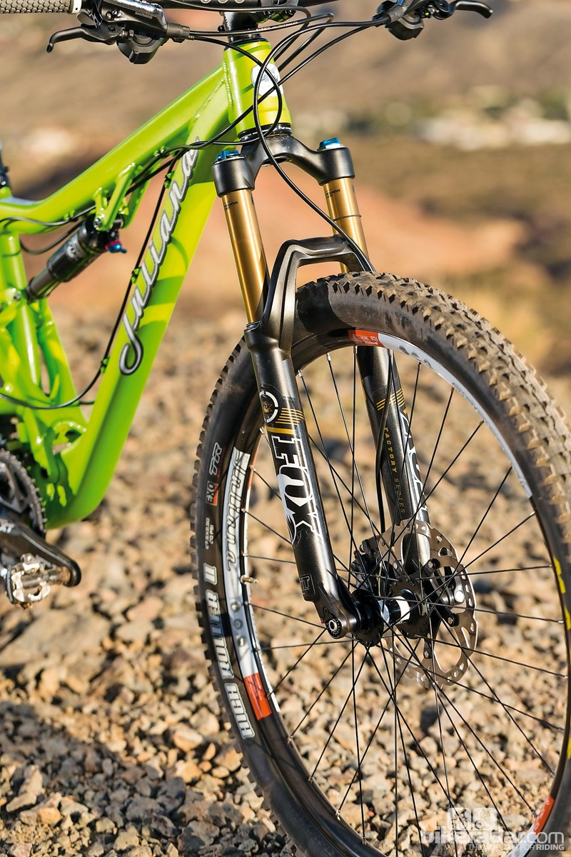 Our test bike came with Fox fork upgrade – production bikes will see a RockShox Sektor