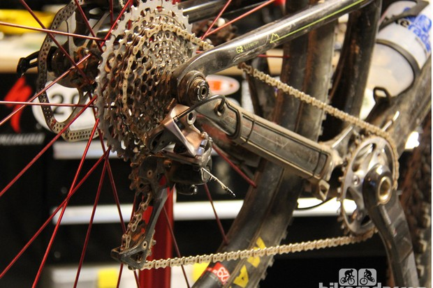 Don't be penny wise and pound foolish. A 10-speed chain can work in a pinch, but the risk of premature wear to one of the most expensive parts of the drivetrain is worth steering clear of. Replace your worn or broken PC-XX1 chain with another one