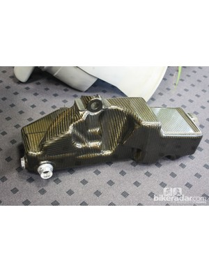 This carbon fibre tank has been produced in a shape that would be extremely difficult to replicate in alloy