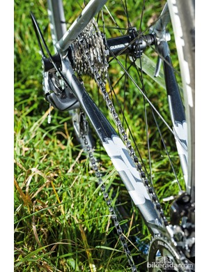 The CAAD is fitted with 10-speed Shimano 105