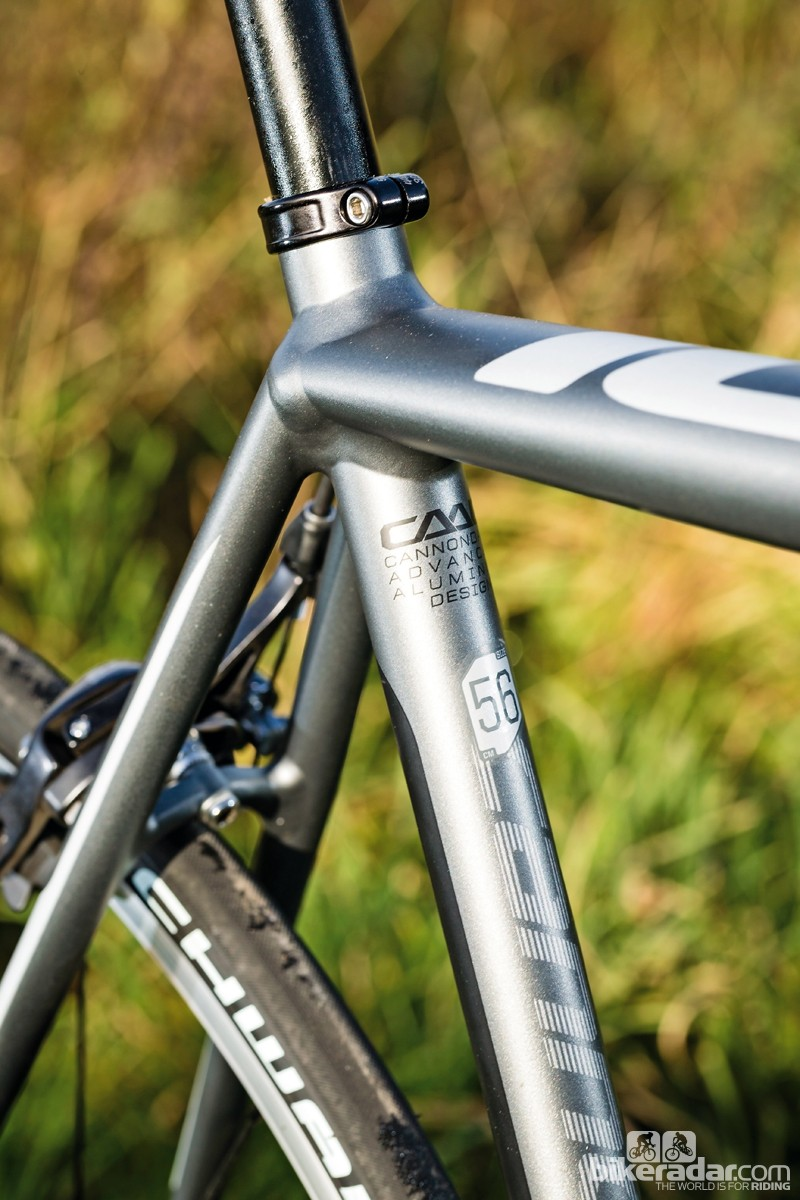The frame is butted, hydroformed and lightweight