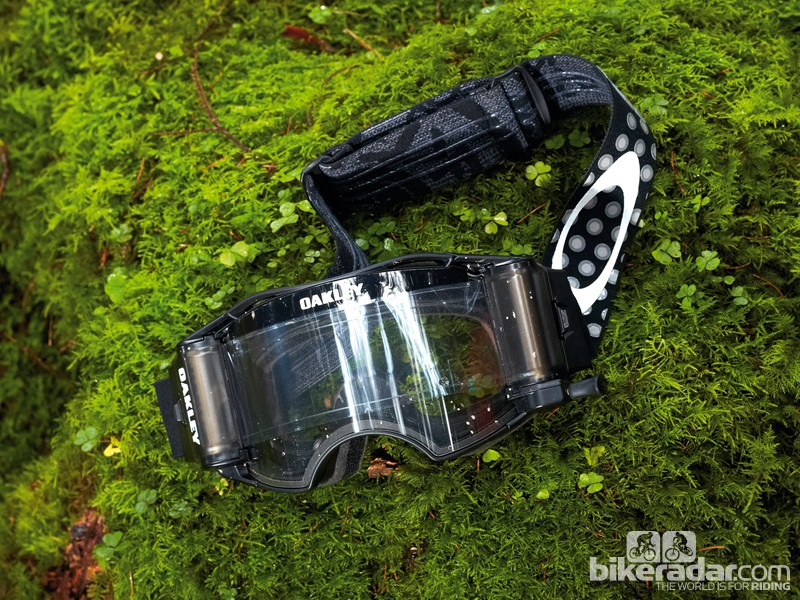 Oakley Airbrake MX goggles with roll-off system