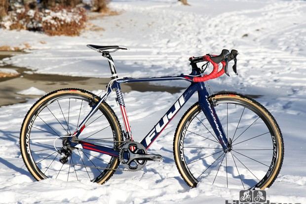 Jonathan Page (Fuji/Spy/Competitive Cyclist) gets a custom painted Fuji Altamira CX frameset to celebrate the US national championship he won last year