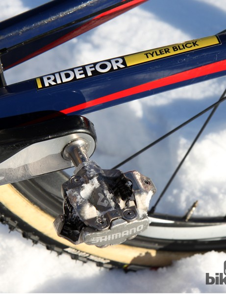Jonathan Page (Fuji/Spy/Competitive Cyclist) relies on old Shimano PD-M959 pedals