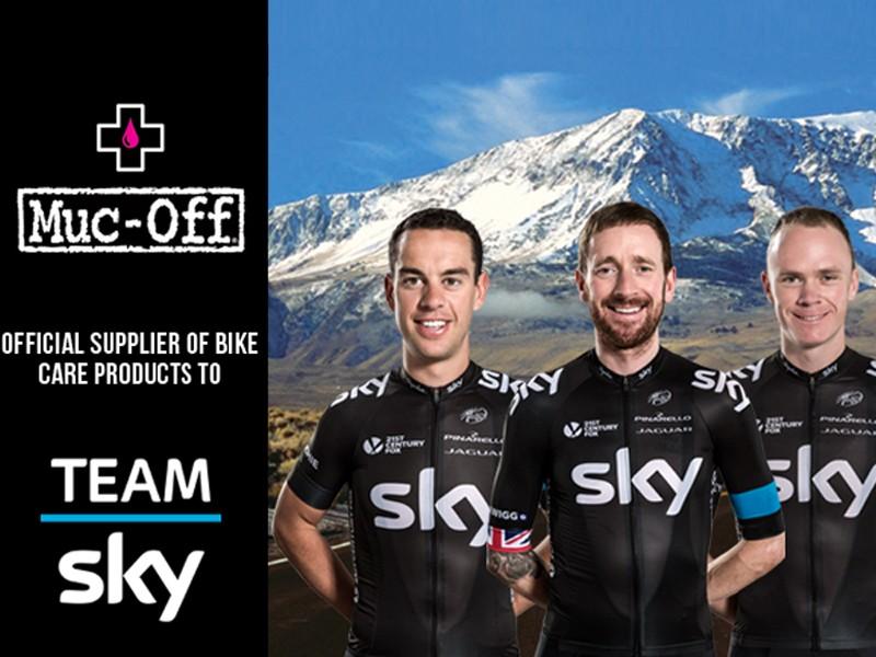 Muc-Off announce partnership with Team Sky