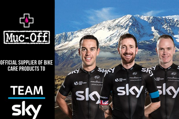 Muc-Off announce partnership with Team Sky