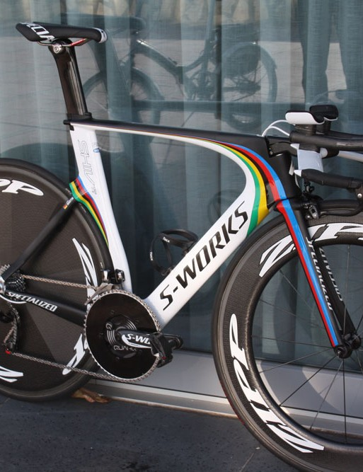 Tony Martin (Omega Pharma-QuickStep) remains on Specialized's all-conquering Shiv TT in 2014