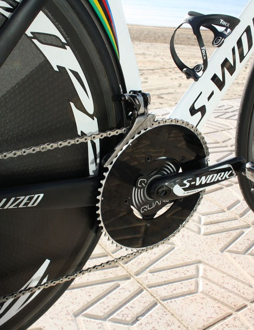 Martin's rig on training camp looks like it is still fitted with an enormous 58T chainring