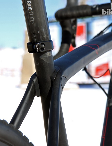 Although it's visually discrete, IsoSpeed provides incredible benefits in terms of ride quality and rear wheel traction. In fact, the rear end is so smooth that we were consistently able to power through bumpy sections that would otherwise force us to stand and/or coast