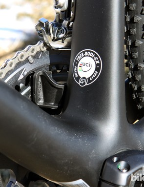 A chain catcher is built into the base of the seat tube