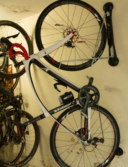 The Steadyrack holds the front wheel securely in place and allows the bike to swing from side to side