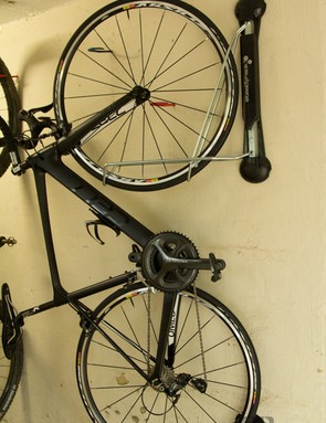 We loved the having ability to swing the bike out of the way or to create access to other bikes. The bike could also be swung against the wall to create more space