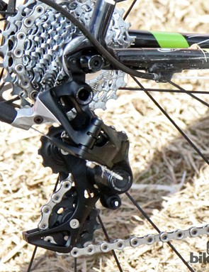Ryan Trebon (Cannondale-Cyclocrossworld.com) and Elle Anderson (California Giant) raced at the US national cyclocross championship on SRAM's new CX1 1x11 drivetrain