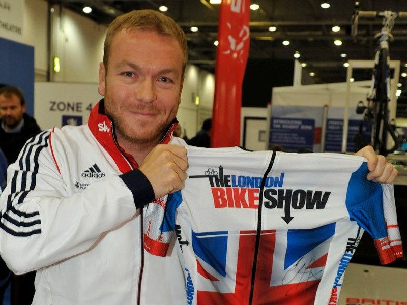 Sir Chris How will be at the London Bike Show - and so will his bike range