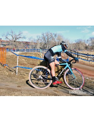 According to Trek team liaison Matt Shriver, Katie Compton (Trek Cyclocross Collective) turns to her Bontrager ECC-treated wheels whenever she needs stronger brake performance, particularly in muddy conditions