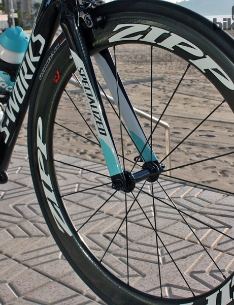 Zipp 404 Firecrest Carbon Clinchers are used for training